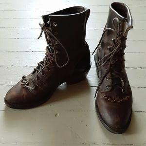 SANTA FE Vibram Sole Leather Lace Up  Boot